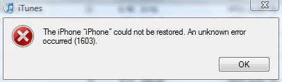 iTunes Error 1603: How to Fix