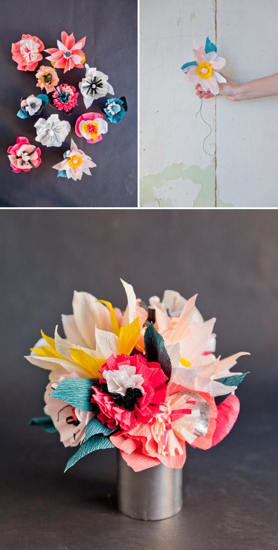paper flower bouquet diy