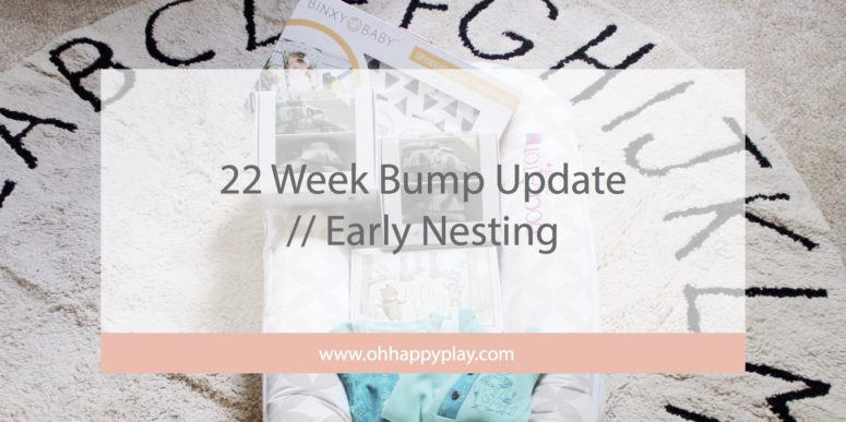 22 Week Bump Update // Early Nesting