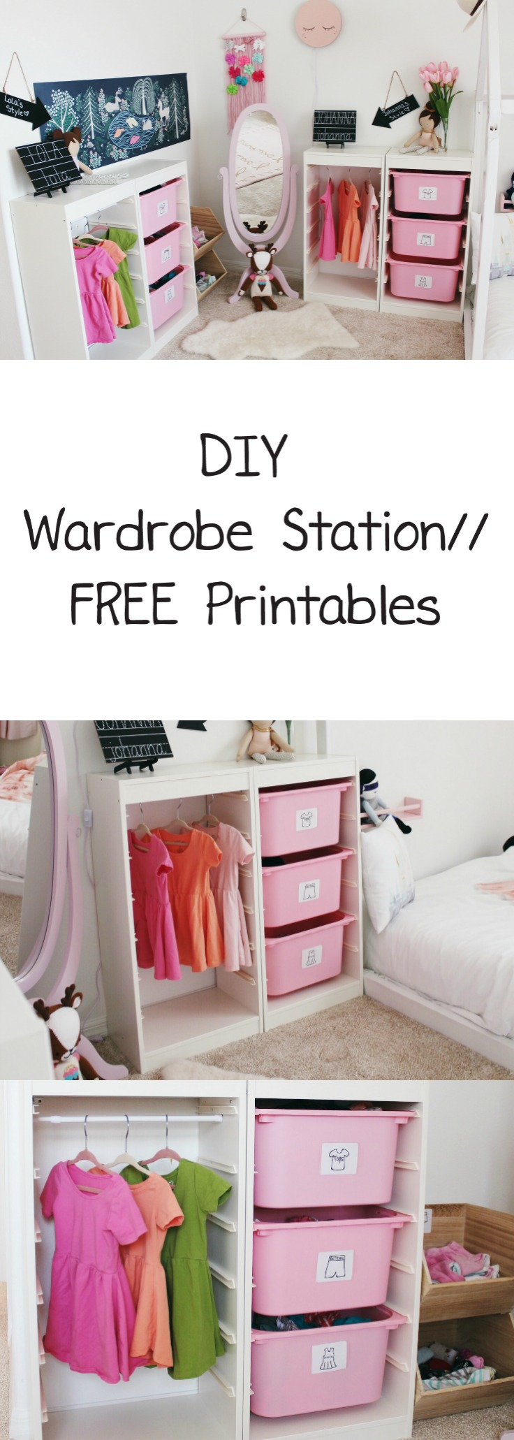 Trofast Montessori Organize Your Child S Clothes With This Diy Wardrobe Station Oh