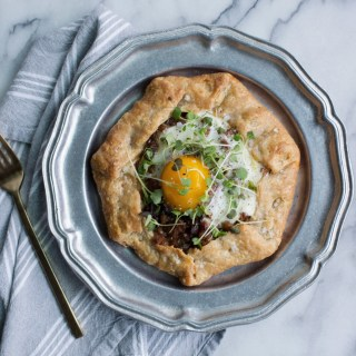 Marx Foods Breakfast Challenge // italian sausage and gruyere galette with duck fat crust