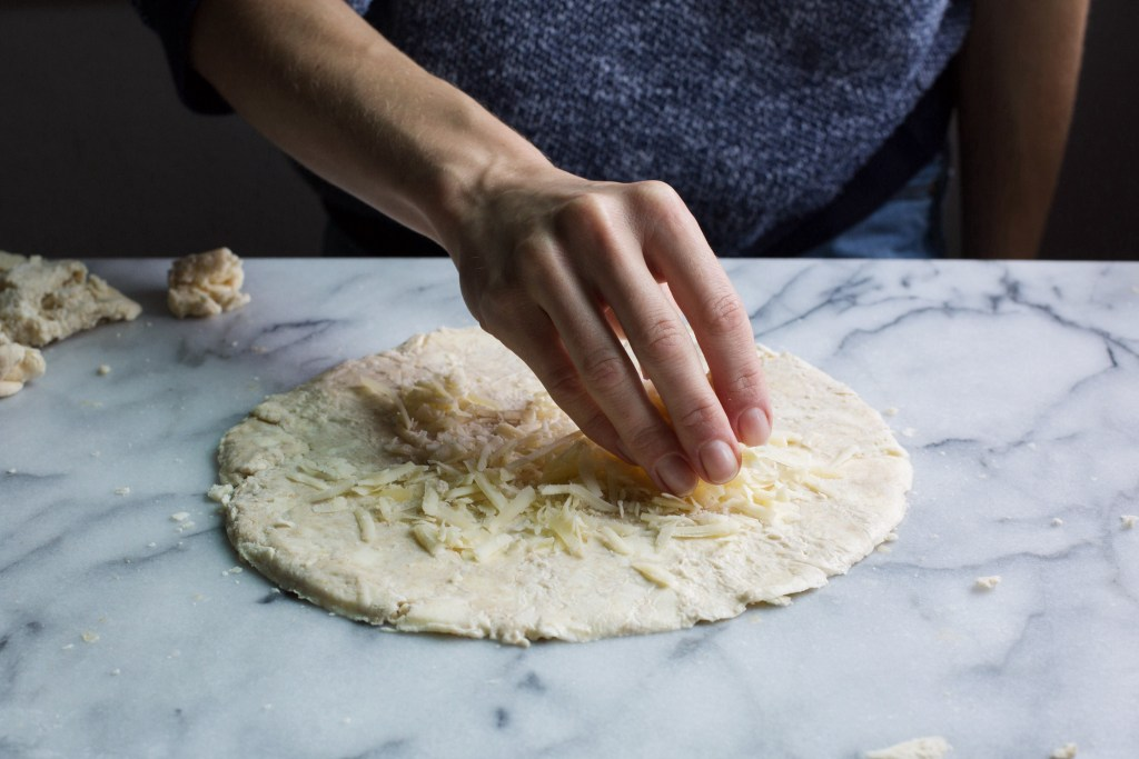 italian sausage and gruyere galette with duck fat crust // www.ohhoneybales.com