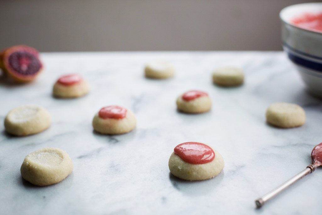 salted citrus shortbread with blood orange star anise curd // ohhoneybakes.com