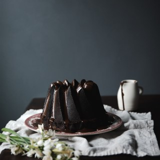chocolate pound cake with fresh bay ganache // ohhoneybakes.com
