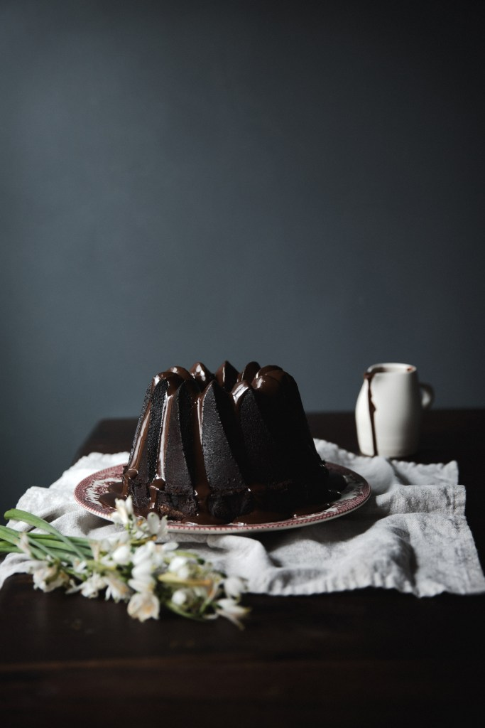 chocolate and bay leaf pound cake // ohhoneybakes.com