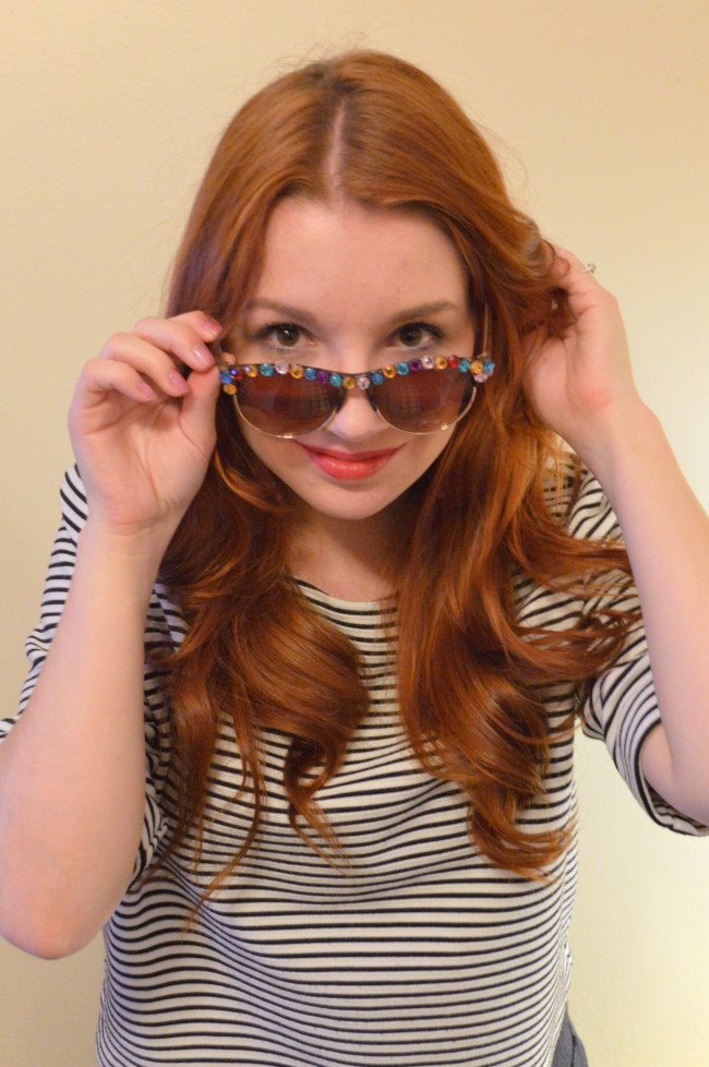10-Minute DIY Rhinestone Sunnies