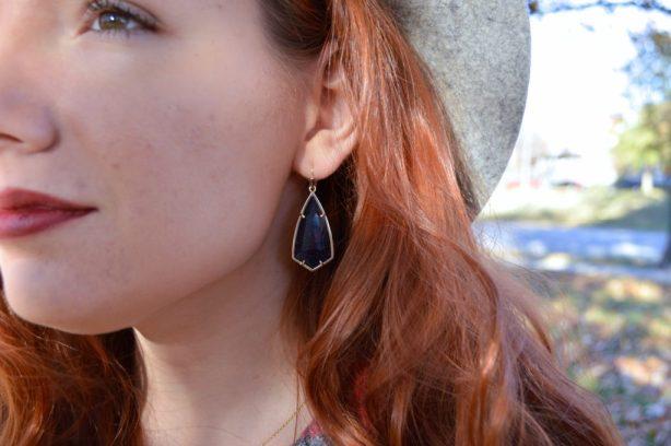 fall-outfit-idea-featuring-kendra-scott-carla-blue-goldstone-drop-earrings