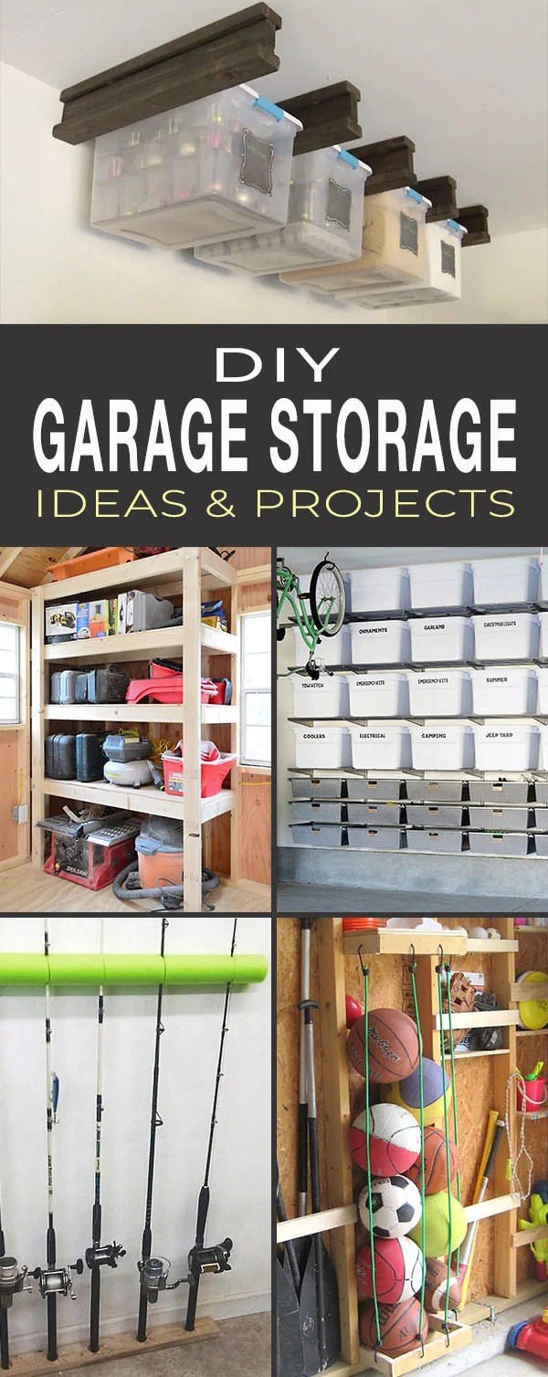 Garage Shelving Design Ideas Diy Garage Storage Ideas Projects Ohmeohmy Blog