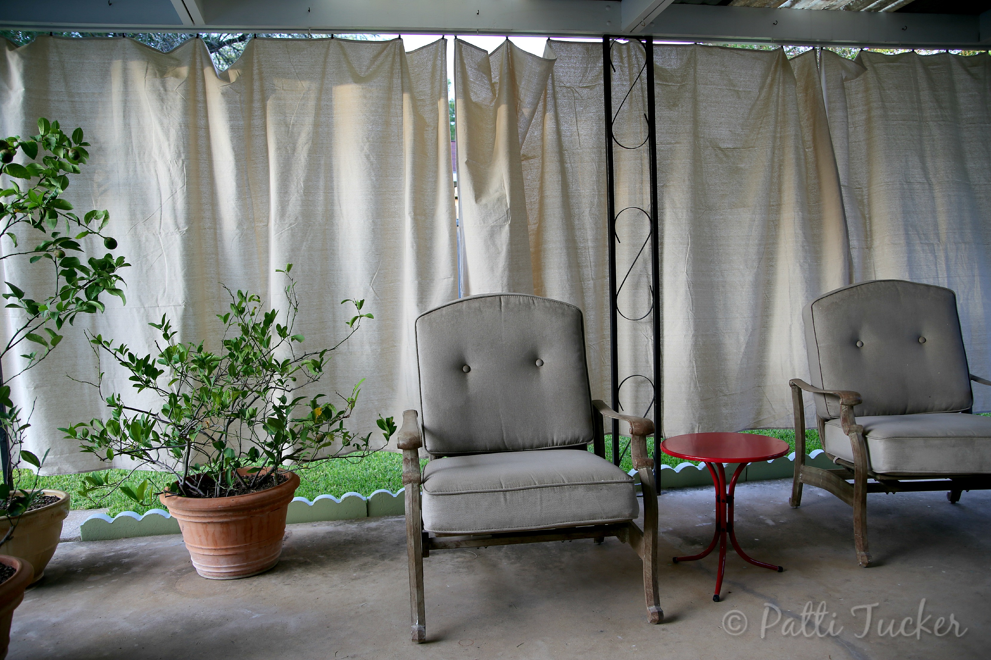 Cheap Patio Curtains Inexpensive Diy Outdoor Patio Drop Cloth Curtains