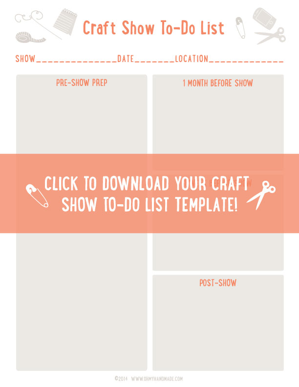 Craft Show To Do List Template Don\u0027t Start From Scratch \u2013 Oh My