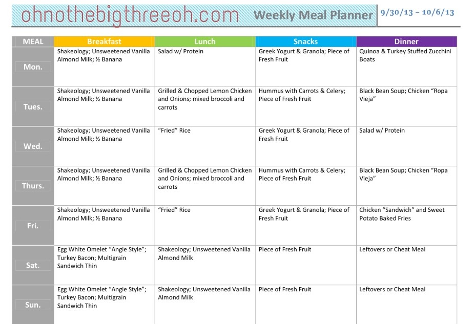 Lezlie Stratton Weight Loss Meal Plans - weight loss planner