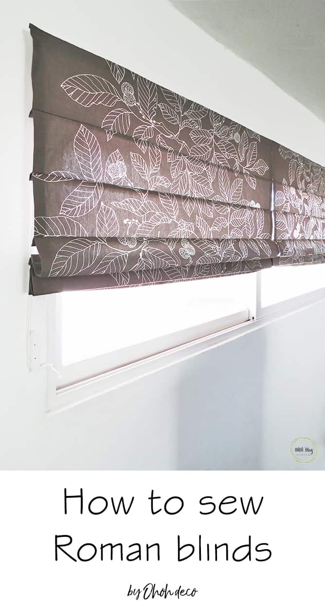 How To Make Roman Blinds Ohoh Deco