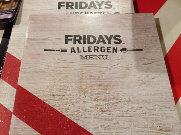 Vegan Allergen Menu Fridays