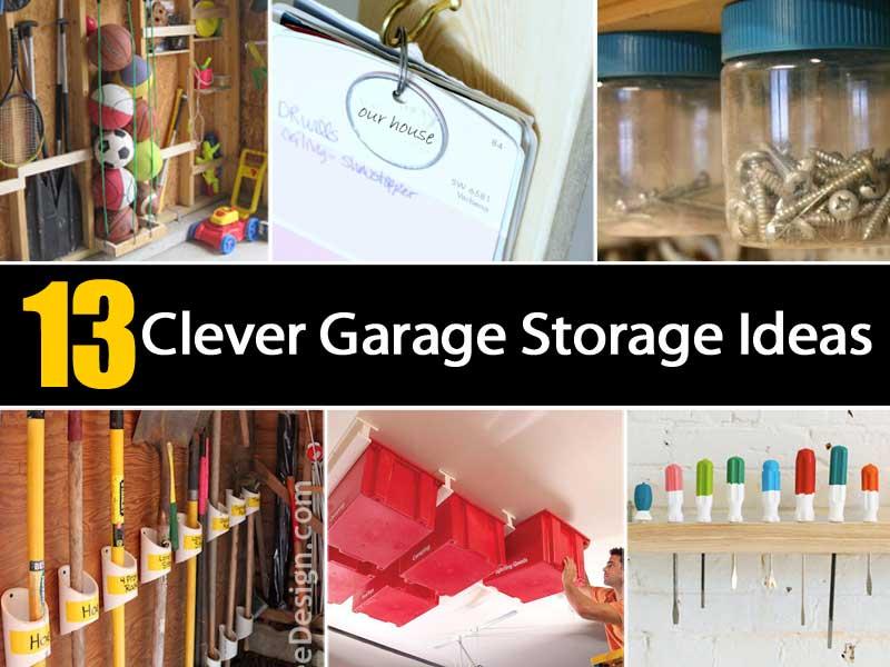 13 Clever Garage Storage Ideas Ohsimplycom