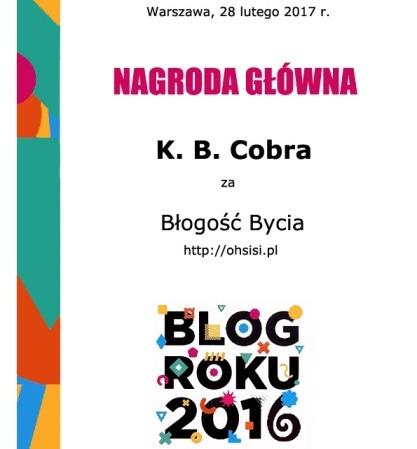 Blok roku 2016 KB Cobtra