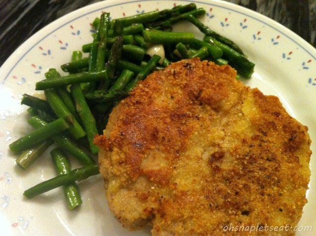 paleo pan fried pork chop