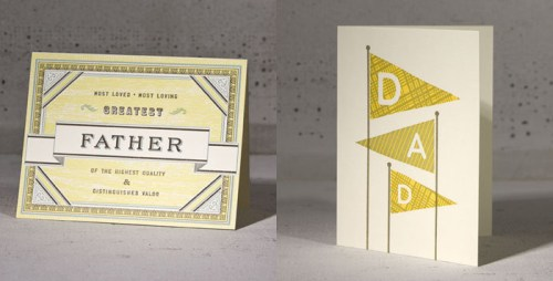 Hammerpress Fathers Day 500x254 Seasonal Stationery: Fathers Day Cards