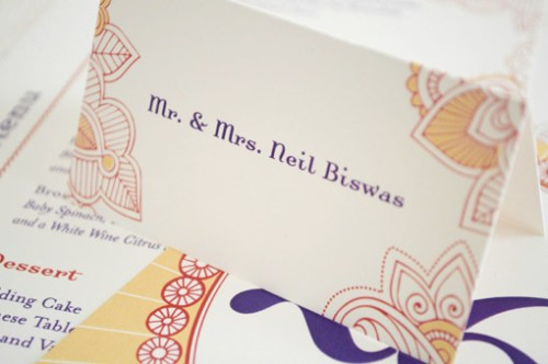 Hindu Wedding Stationery Place Cards2 500x332 Hindu Wedding Stationery