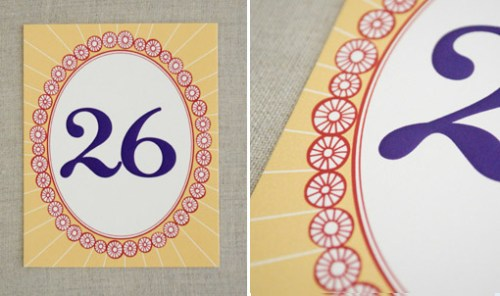 Hindu Wedding Stationery Table Numbers 500x296 Hindu Wedding Stationery