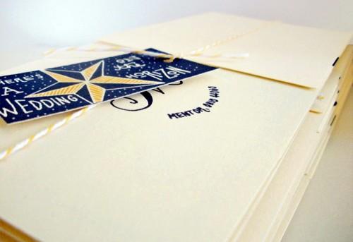 Jessica Jared Sailor Tattoo Wedding Invitations Envelope 500x343 Sailor Tattoo Inspired Wedding Invitations