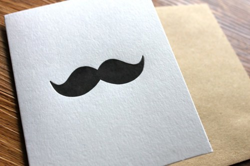 Simple Matters Mustache 500x332 Seasonal Stationery: Fathers Day Cards
