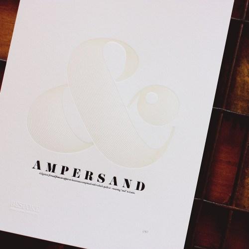 ampersand print 500x500 Paper Artwork   Ampersand Print