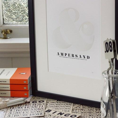 ampersand print2 500x500 Paper Artwork   Ampersand Print