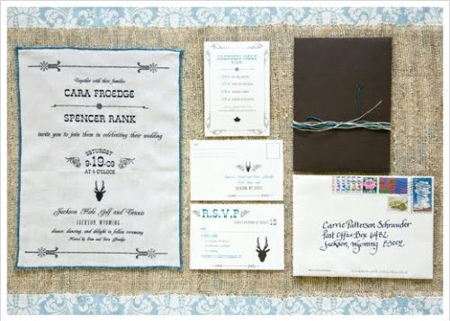 cotton burlap invitations 500x357 Burlap + Twine Invitations