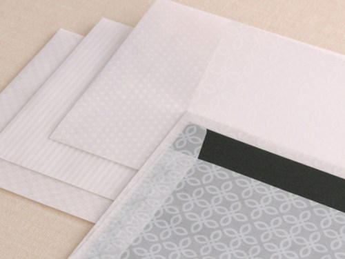 gray patterned stationery 500x375 Winged Wheel