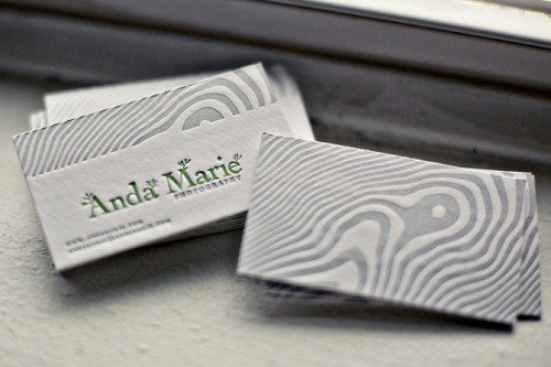 woodgrain letterpress business cards 500x333 Business Card Ideas and Inspiration #3