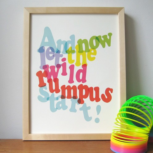 Let the Wild Rumpus Start Print Ruka Ruka