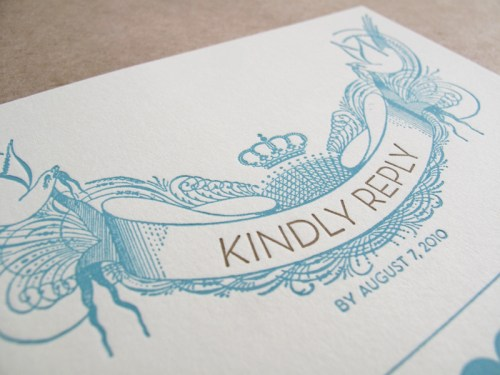 Vintage San Francisco Wedding Invitation RSVP Detail 500x375 Vintage Inspired San Francisco Wedding Invitations