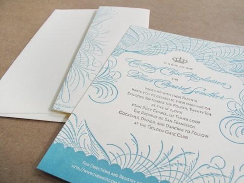 Vintage San Francisco Wedding Invitation 500x375 Vintage Inspired San Francisco Wedding Invitations