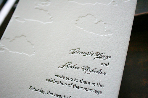 cloud letterpress wedding invitations2 Summer Cloud Wedding Invitations