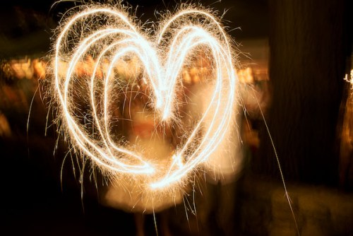 heart wedding sparklers 500x334 {happy weekend!}