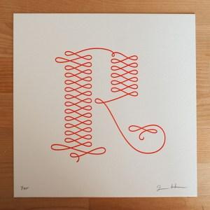 jessica hische letterpress r 300x300 Jessica Hische Letterpress Alphabet Prints