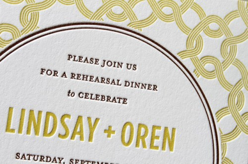 modern pattern rehearsal dinner invitation 500x332 Modern Rehearsal Dinner Invitation