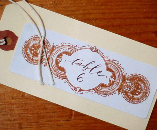 neither snow calligraphy wedding escort card 500x416 Lovely Calligraphy from Neither Snow