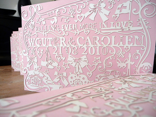papercut wedding invitation1 Papercut Wedding Invitations