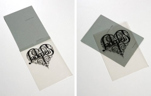 transparency heart wedding invitations 500x319 Perfect Half Wedding Invitations