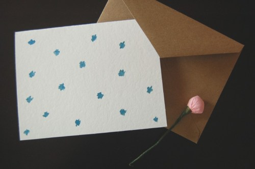 watercolor dots card 500x332 Hand Painted Watercolor Stripes