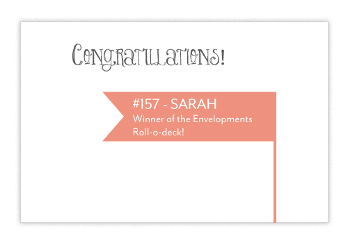 Giveaway Winner Envelopments Envelopments Giveaway Winner!