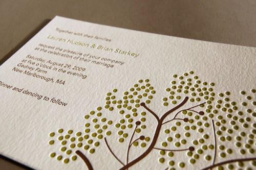 Pistachio Press Letterpress Wedding Invitations Berries 500x333 Wedding Invitations   Pistachio Press