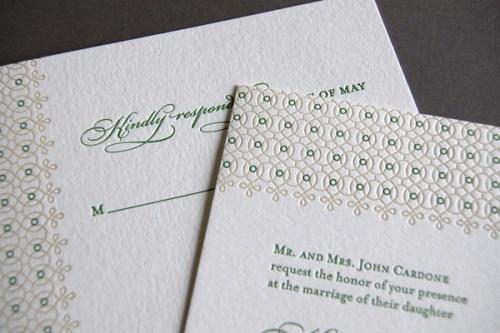 Pistachio Press Letterpress Wedding Invitations Botanical Lace2 500x333 Wedding Invitations — Pistachio Press, Part2