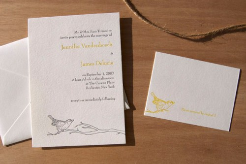 Pistachio Press Letterpress Wedding Invitations Perch 500x333 Wedding Invitations   Pistachio Press