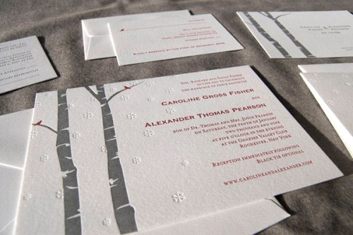 Pistachio Press Letterpress Wedding Invitations Wonderland 500x333 Wedding Invitations   Pistachio Press