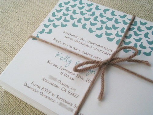 blue bird lingerie bridal shower invitation twine2 500x375 Sweet Blue Birds Bridal Shower Invitations