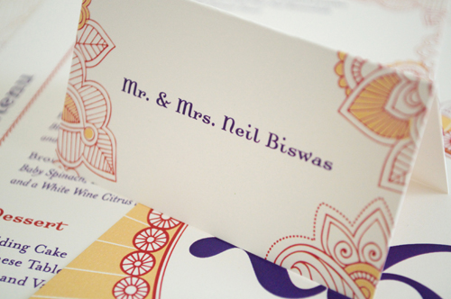 hello tenfold hindu wedding escort cards The Printing Process: Digital Printing