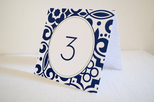 hello tenfold navy wedding reception table number The Printing Process: Digital Printing
