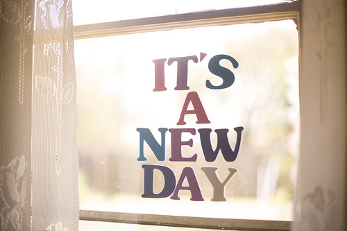 its a new day {happy weekend!}